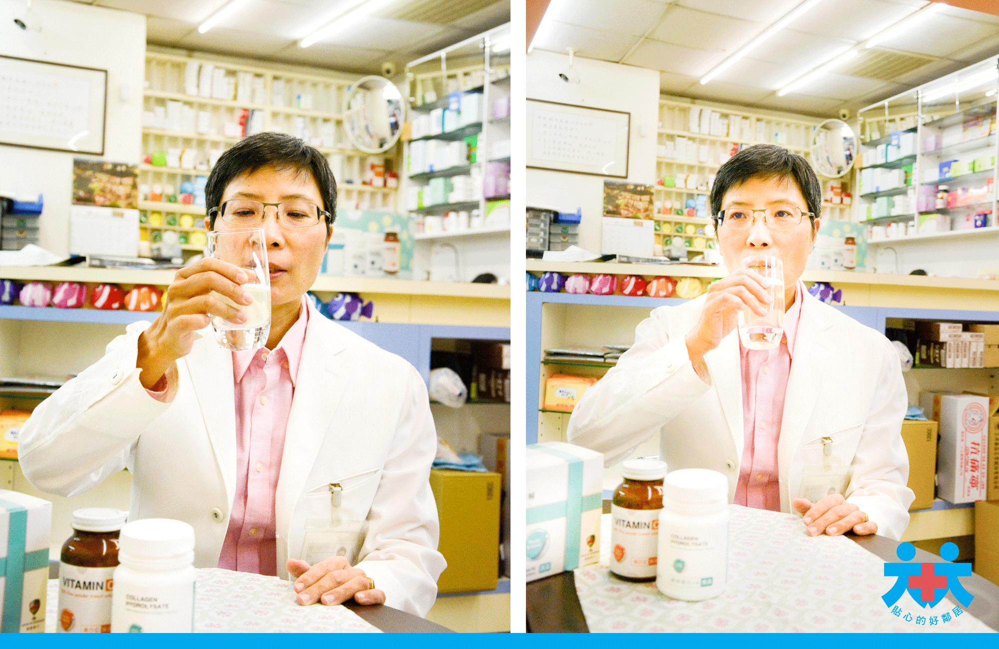洪秋楓藥師指出優質膠原蛋白喝起來無味道,膠原蛋白,水解膠原蛋白推薦