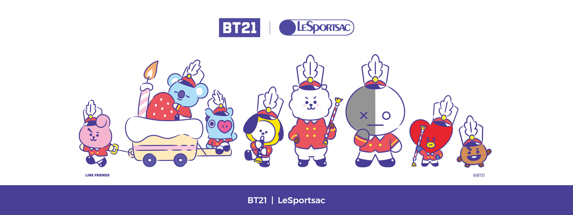 BT21 x lesportsac, line friends