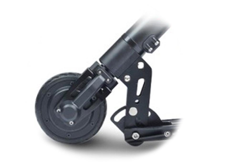 威瑪電動滑板車的前輪與摺疊器