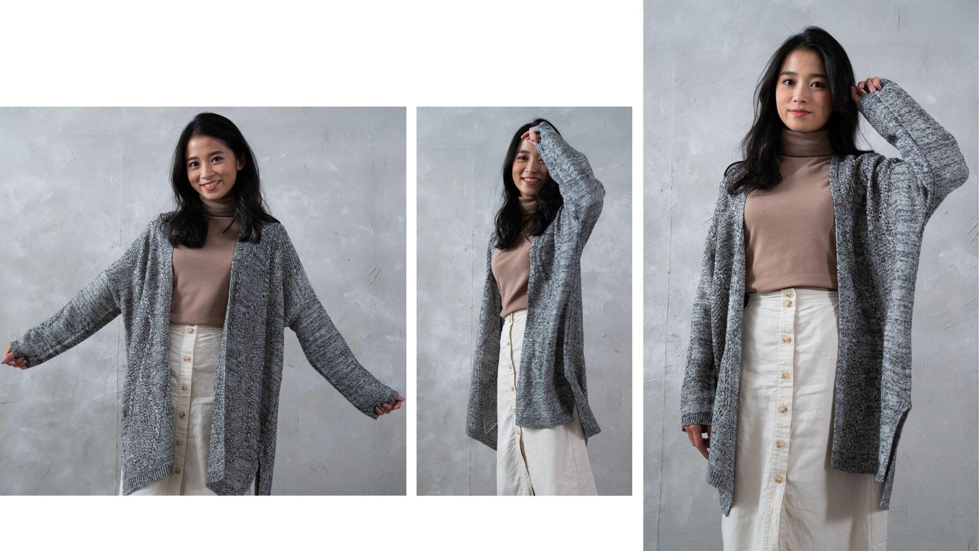 親膚感麻花針織外套台灣製MIT