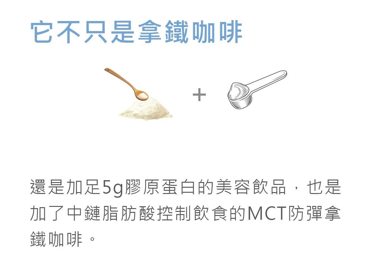 它不只是拿鐵咖啡也是加足5g膠原蛋白的美容飲品-簡單入喉膠原蛋白防彈拿鐵咖啡
