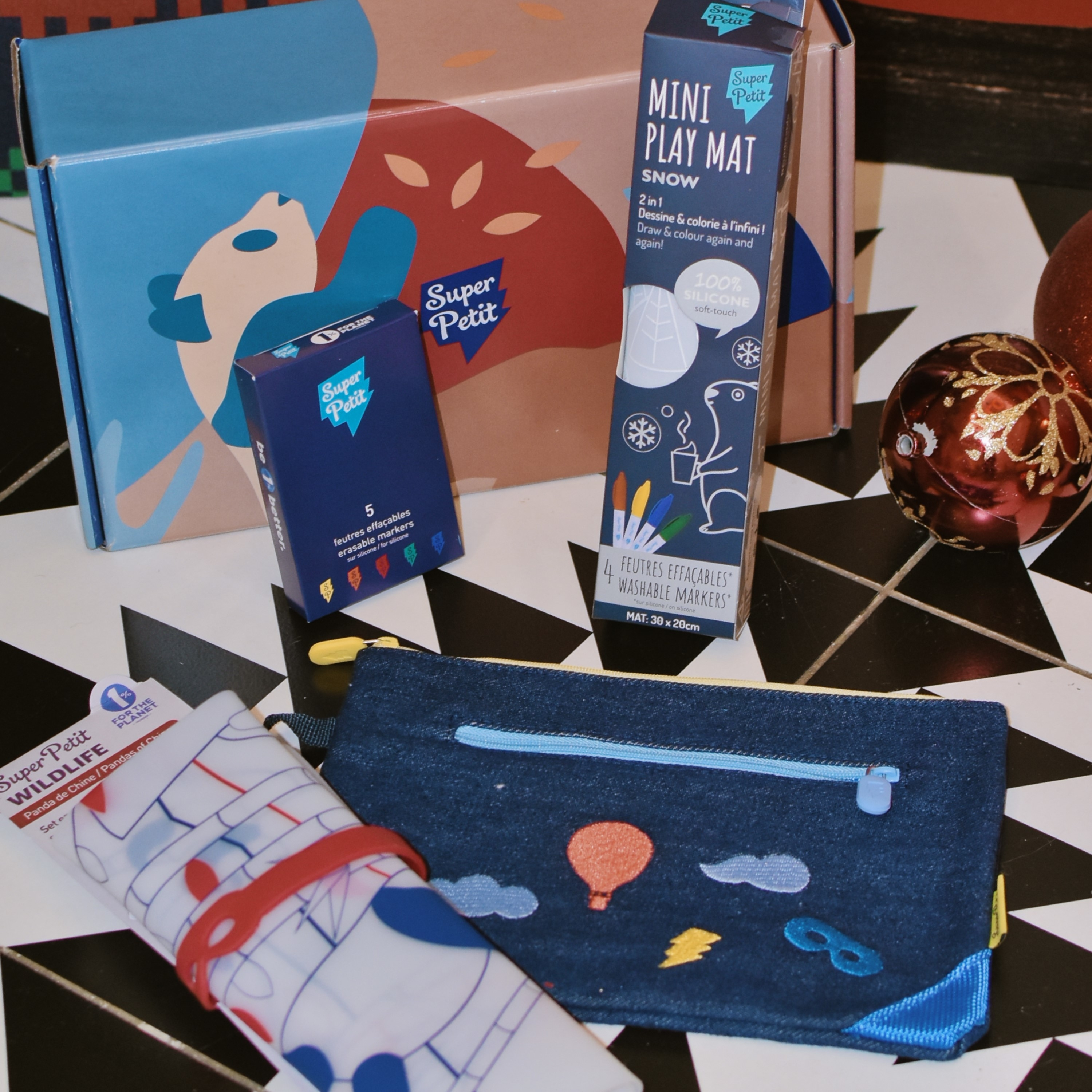 SuperPetit 彩繪餐墊禮盒組, xmas bundle, xmas giftbox, giftbox, superpetit, 彩繪餐墊