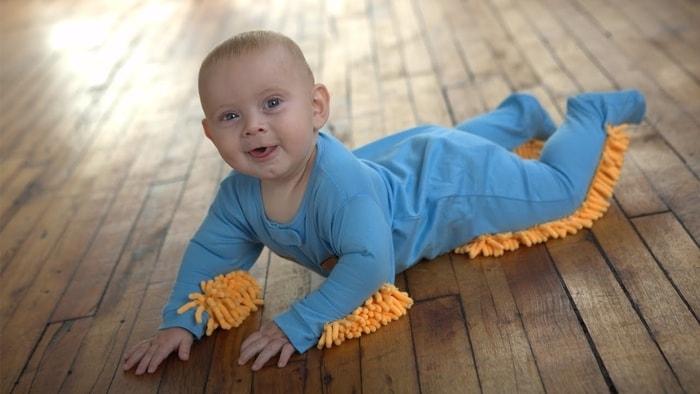 寶寶,嬰兒,拖地,拖地連身衣,地板清潔,掃地,美國,日本
