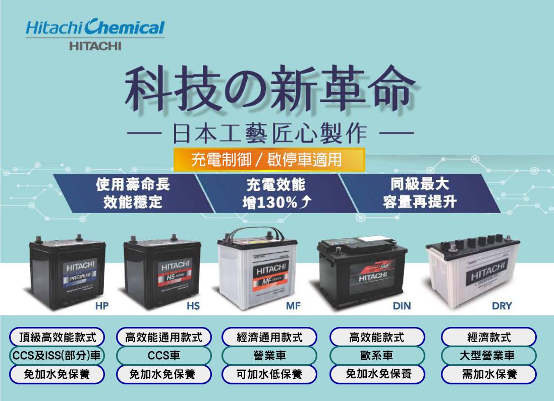日立電池,車用電池,車用電瓶