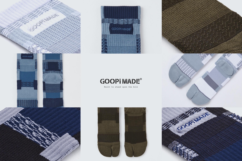 goopi, 孤僻, 分指襪, 拼接, 設計