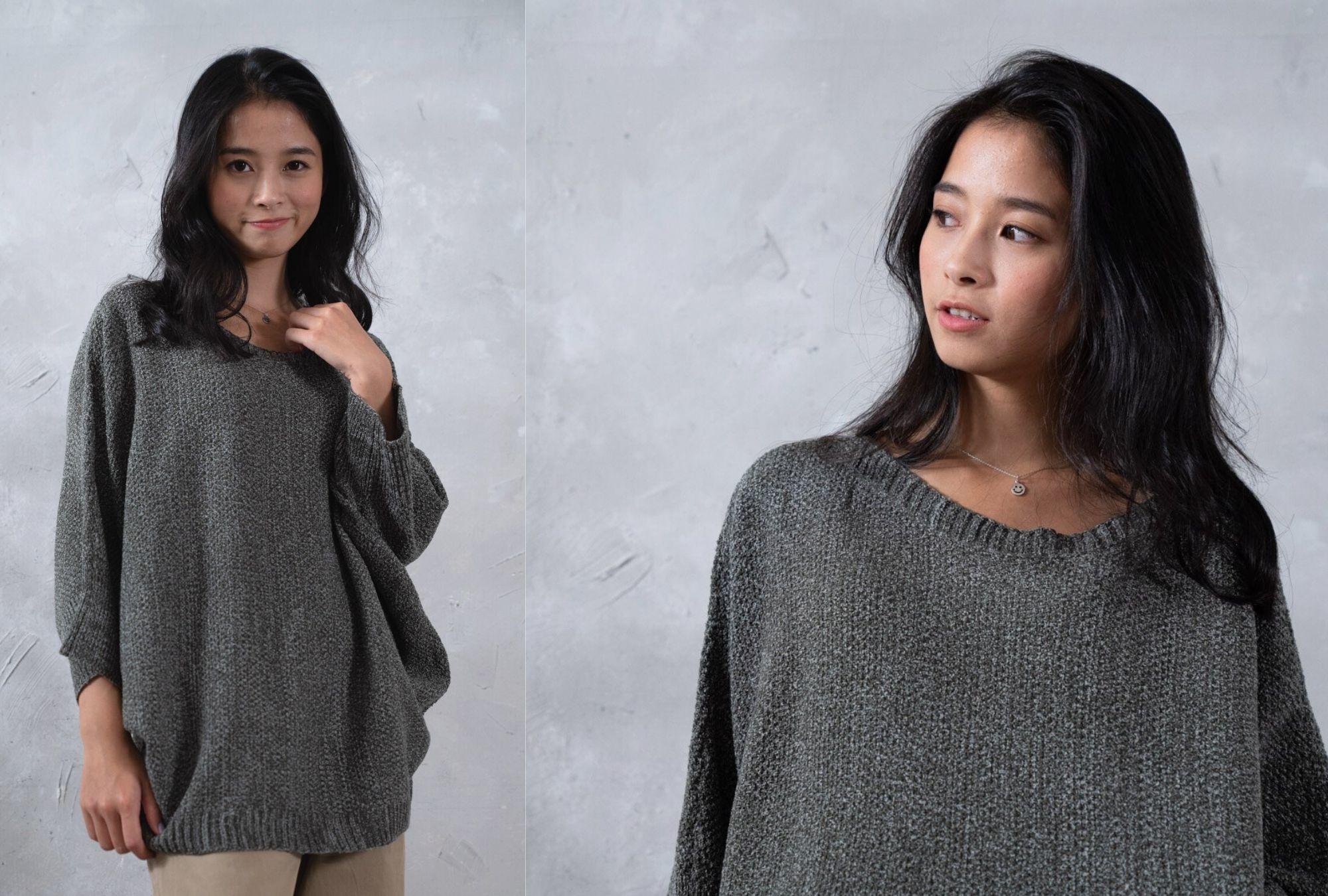 寬版針織上衣-毛巾紗系列
