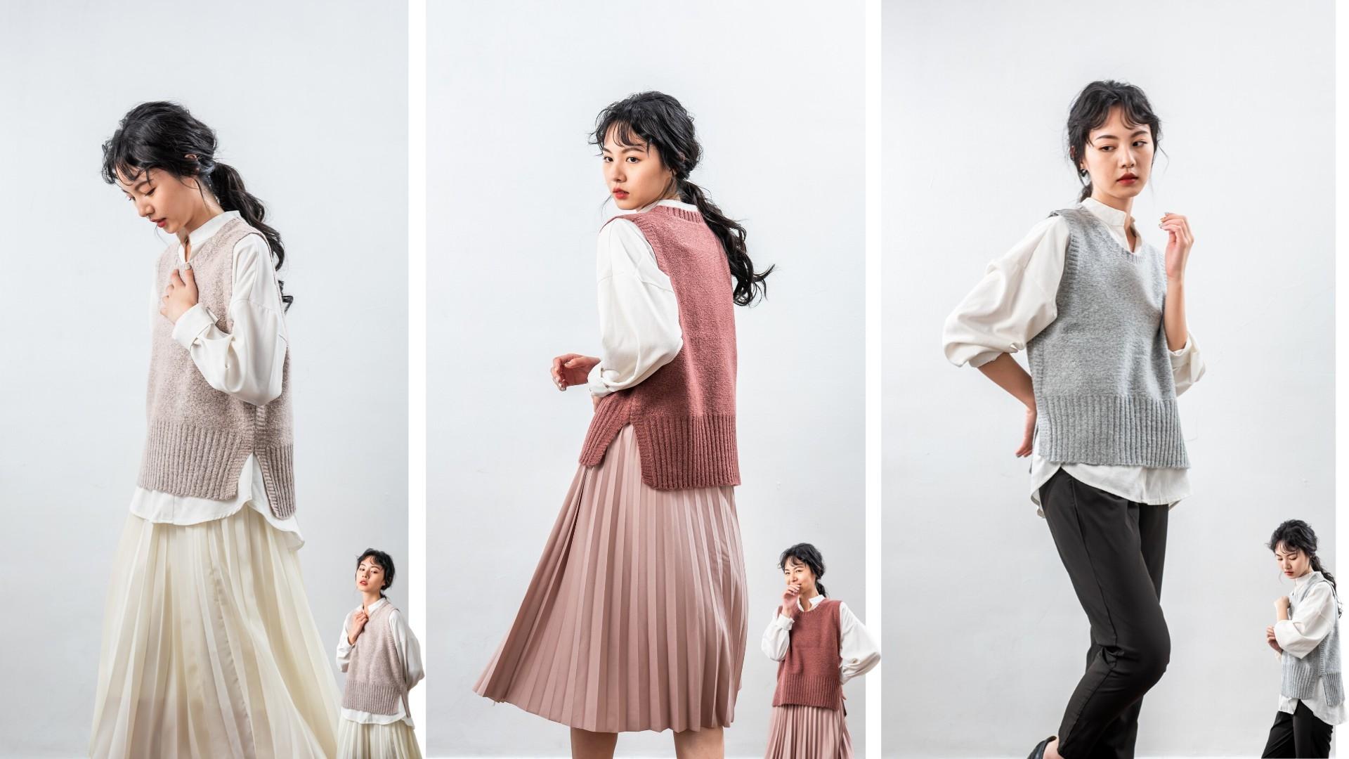 MIT針織背心春天穿搭的台灣製品