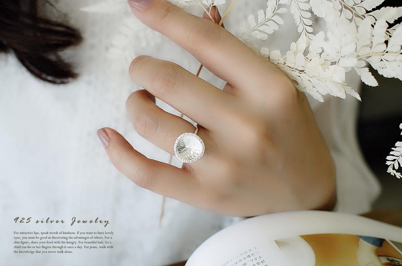 太陽純銀戒指