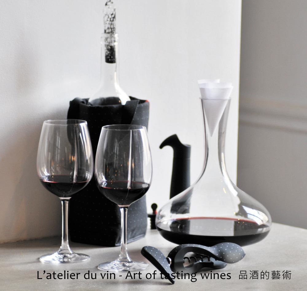 Wine glasses and decanters