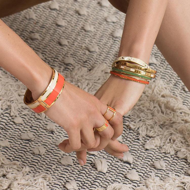 bangle up,配件,飾品,耳環,戒指,手環,琺瑯,琺瑯飾品,法式,優雅,巴黎,珠寶
