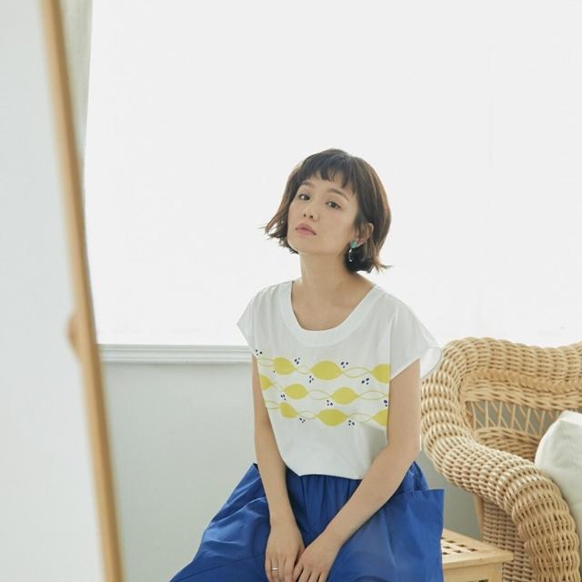 【許匡匡 X so that's me】夏日檸檬棉質圓領上衣/白