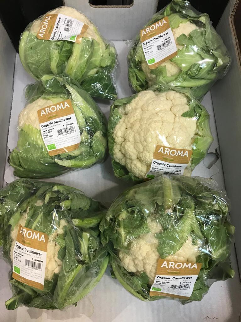 Organic Cauliflower from Holland Netherlands 荷蘭有機椰菜花