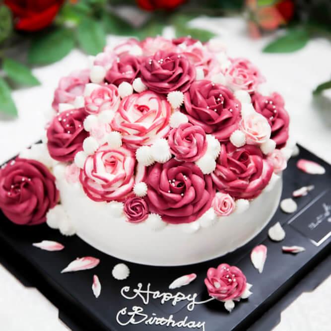 薔薇之戀-捧花蛋糕