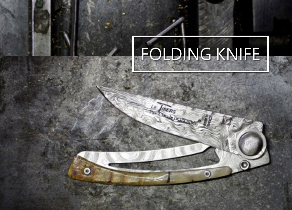 Folding knives, Master pieces of Forge de Laguiole and Claude Dozorme best cutlers