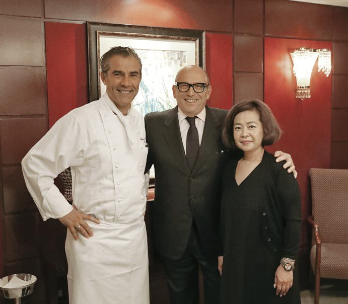 Michelin-star Chef Thierry Voisin, Maurizio Zanella, Tomomi Tsujimoto