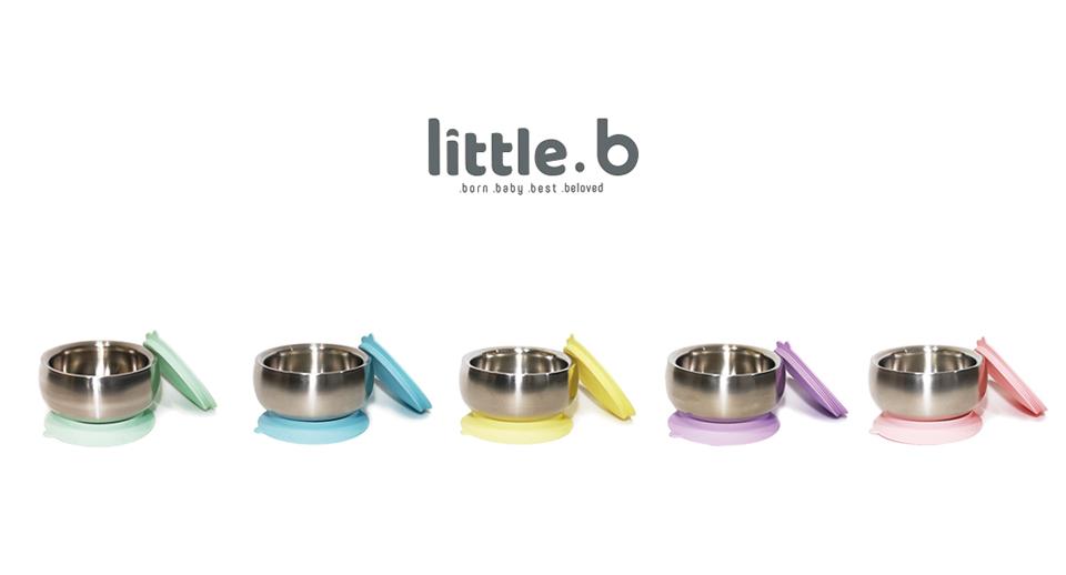 little.b 316雙層不鏽鋼吸盤碗