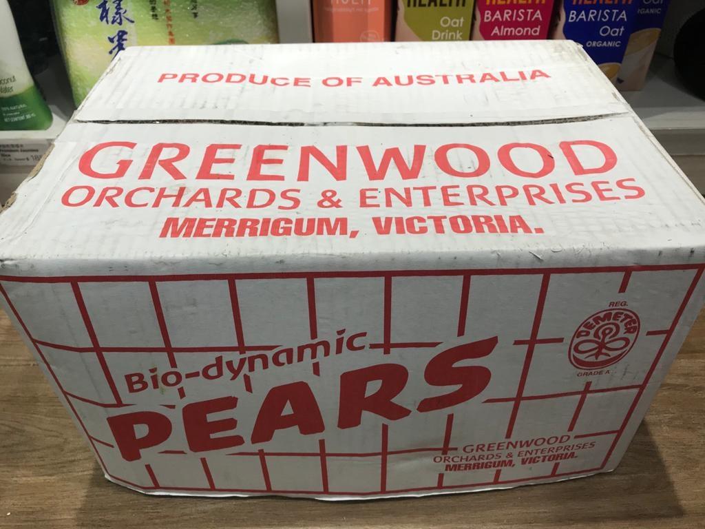 Organic Packham Pear from Australia 澳洲有機啤梨