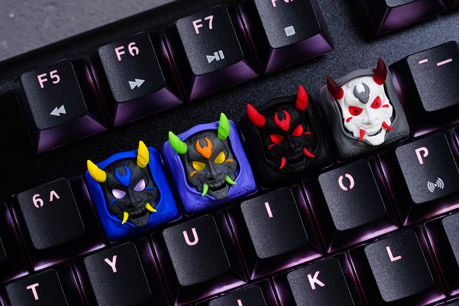 Hannya gaming artisan keycap for mechanical keyboard