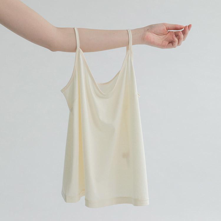 白色天絲棉內搭細肩帶背心