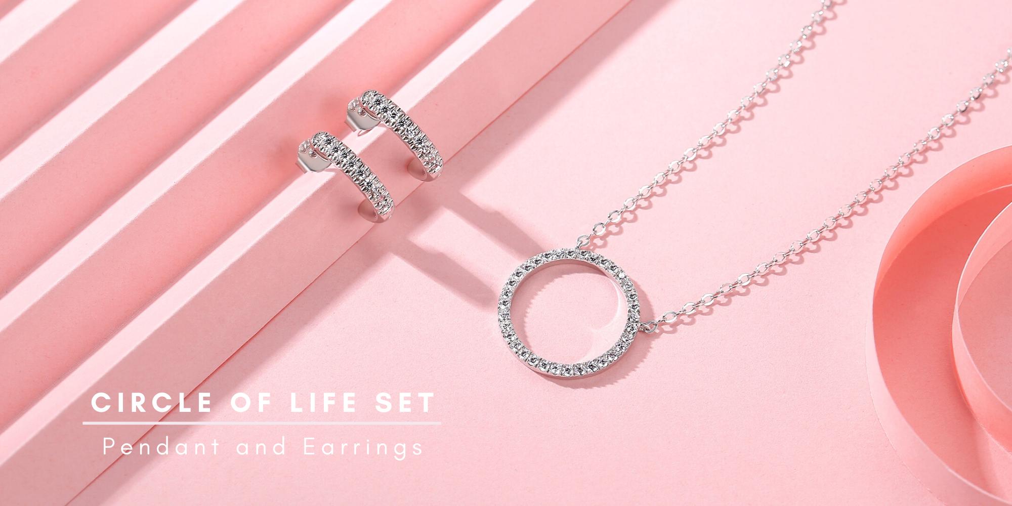 circle pendant circle earrings