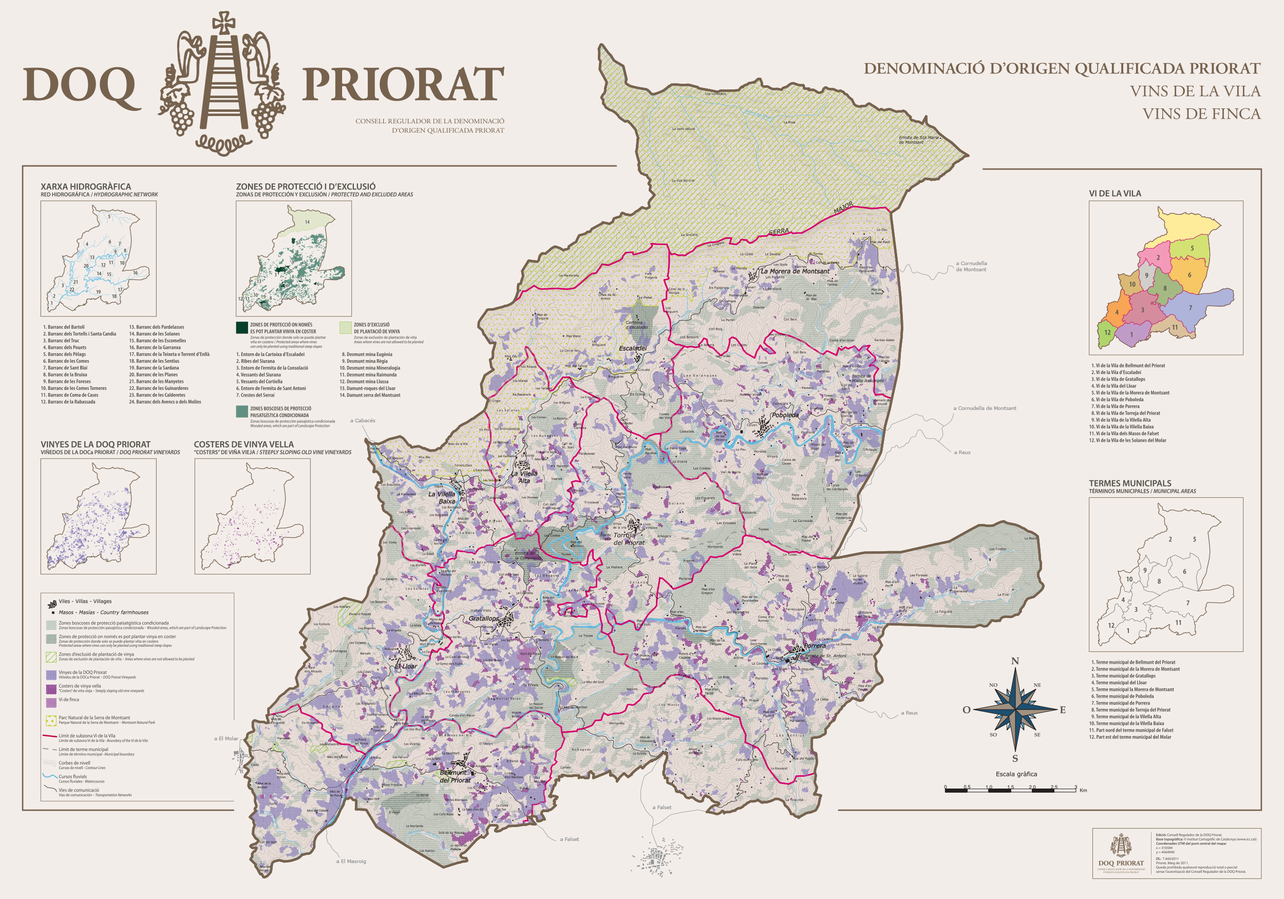 Priorat map