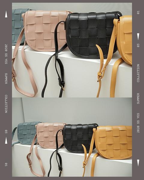 編織造型斜背包