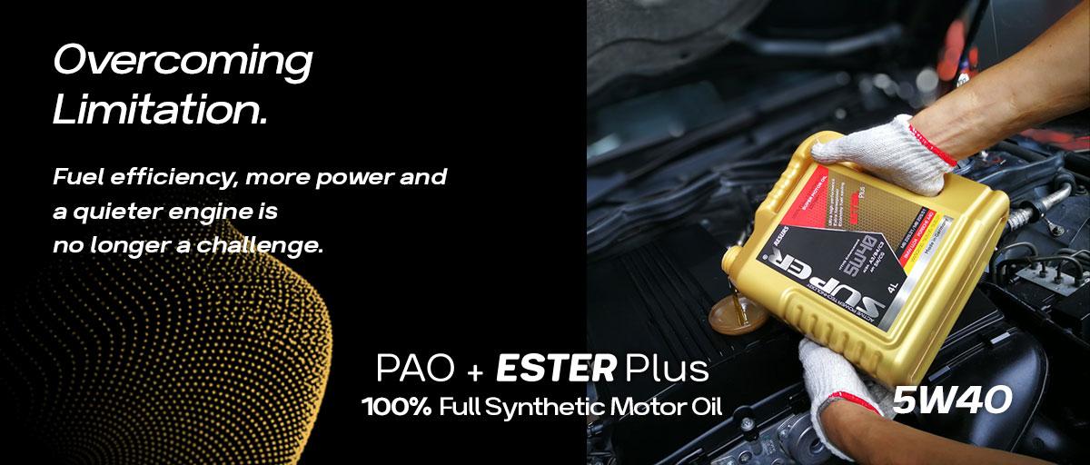 super ester plus motor oil homepage banner 5w40 super nano