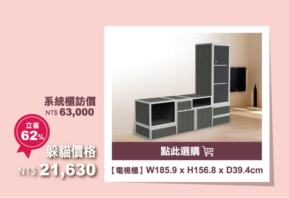 鉸鏈厚門板-客廳電視櫃