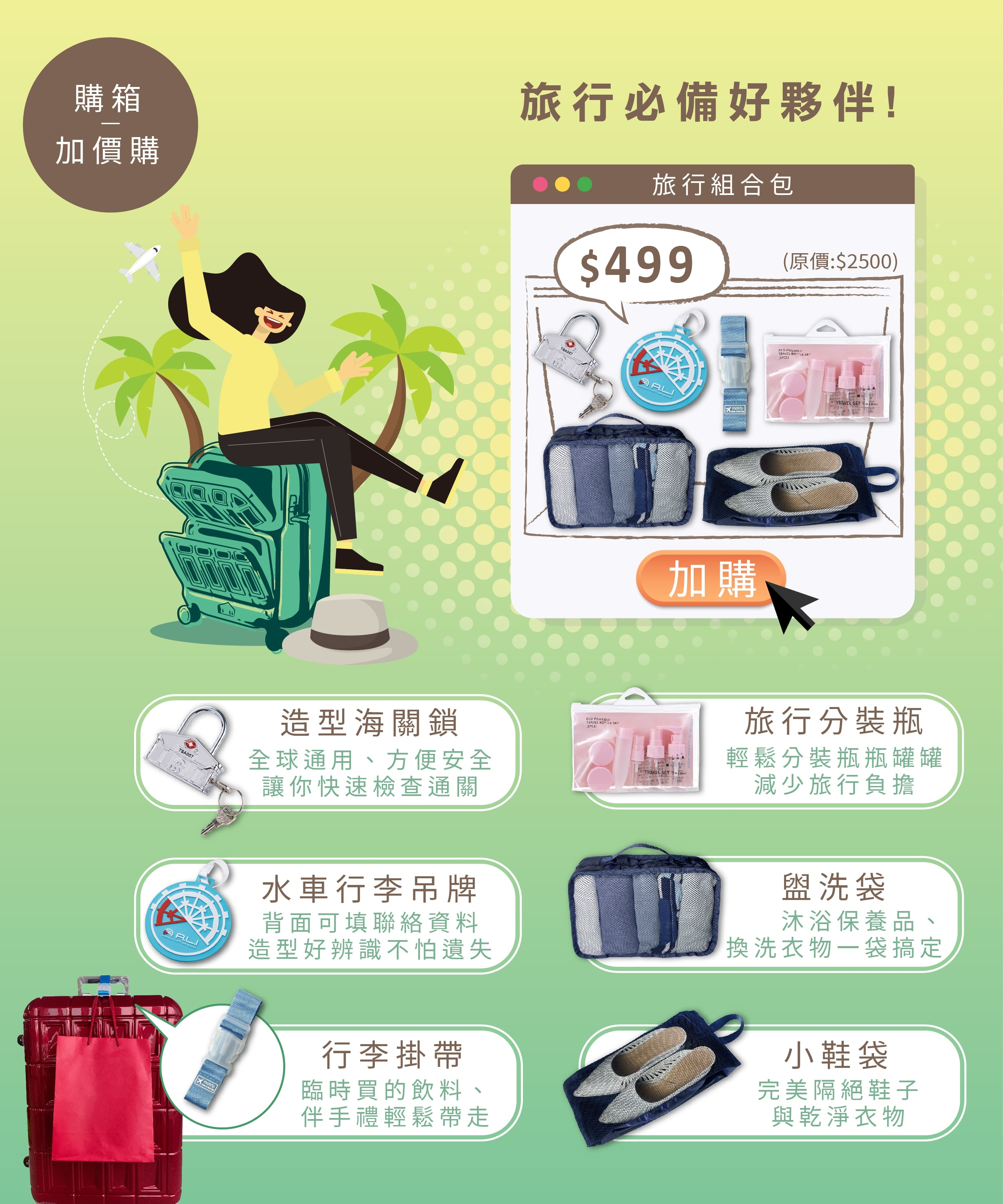 PANTHEON 加價購 旅遊周邊配件組合包