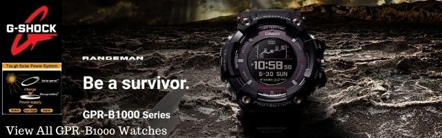 casio gshock rangeman gps navigation bluetooth triple sensor solar men watch gps gprb1000 series