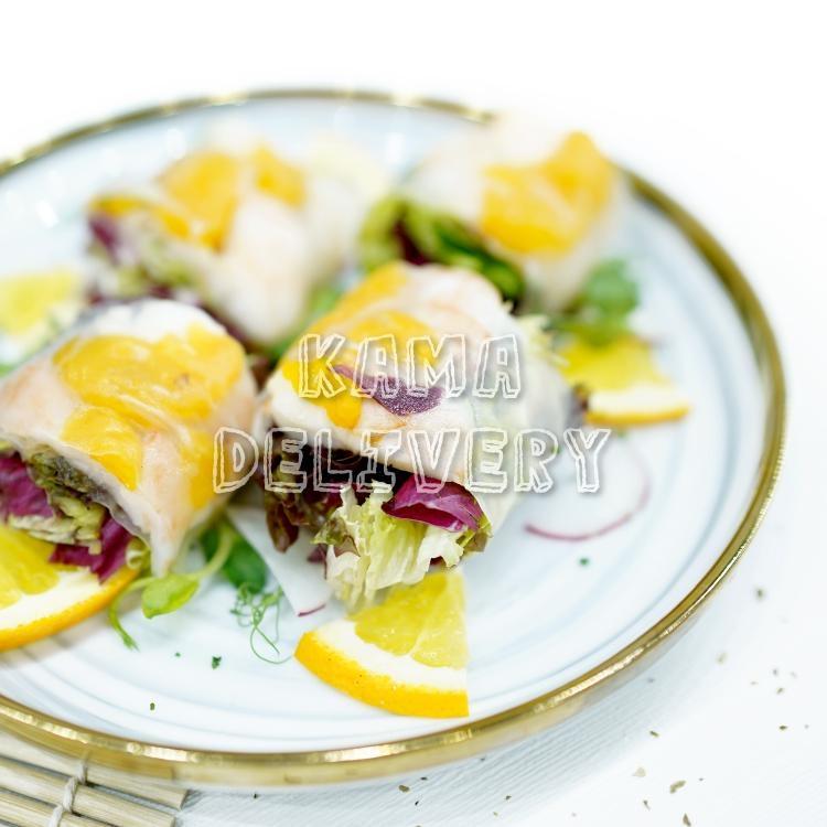 香橙大蝦米紙卷|Premium Master自選人數套餐|多人到會外賣套餐|Kama Delivery美食到會外賣服務