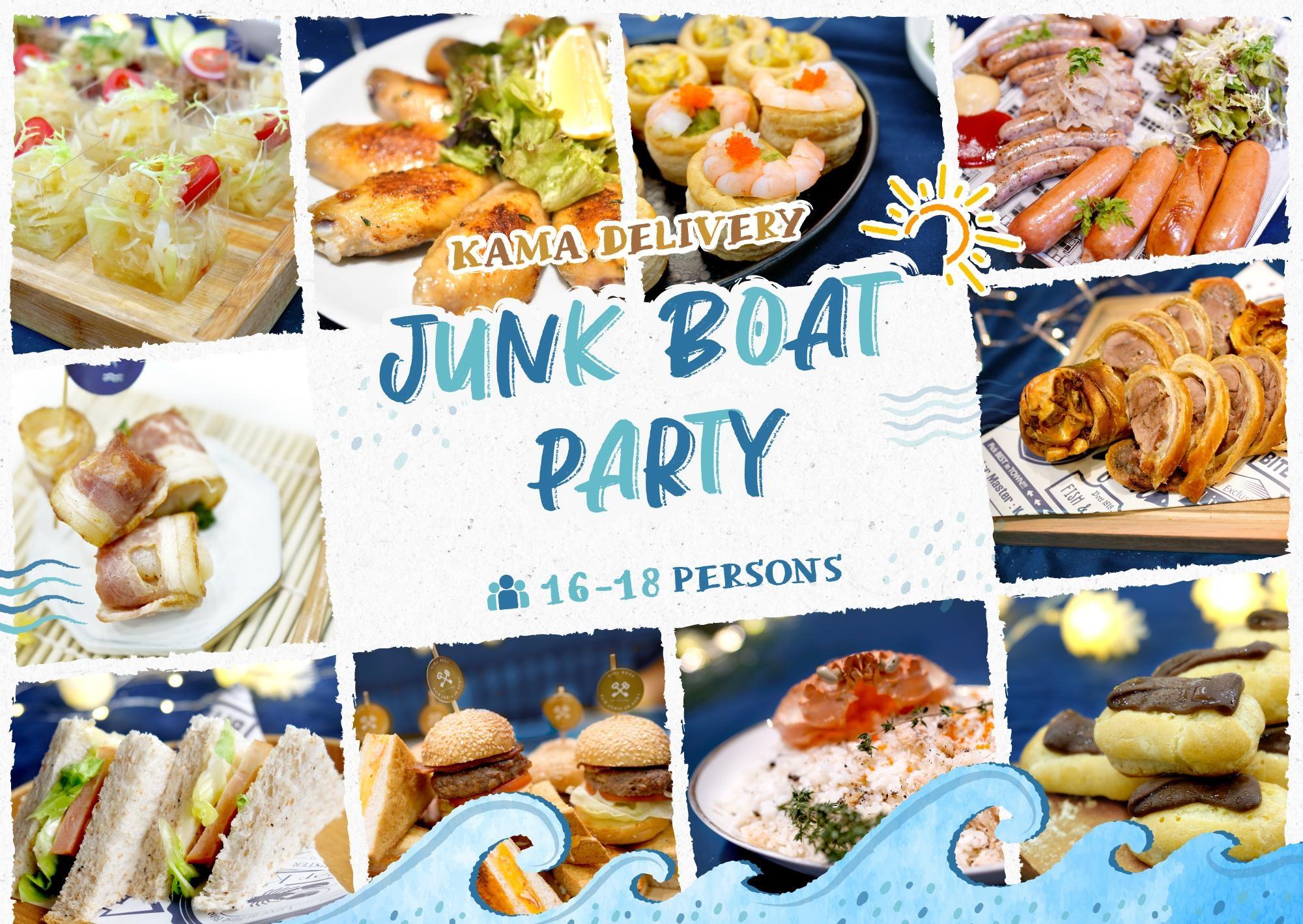 Junk Boat Party Set 食物份量適合16-18人的船P/船河到會派對享用|Kama Delivery美食到會外賣服務