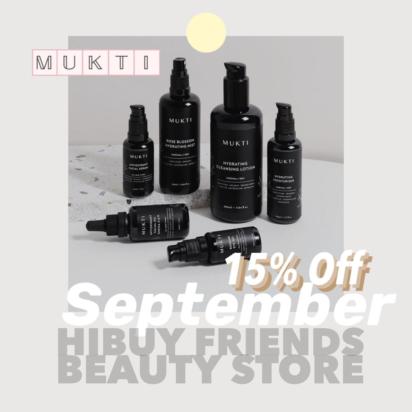 Mukti 15% special offers in September
