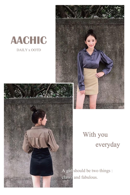 aachic,aachictop,member,shop,Women's,會員,購物金,女裝,購物,襯衫,皮裙