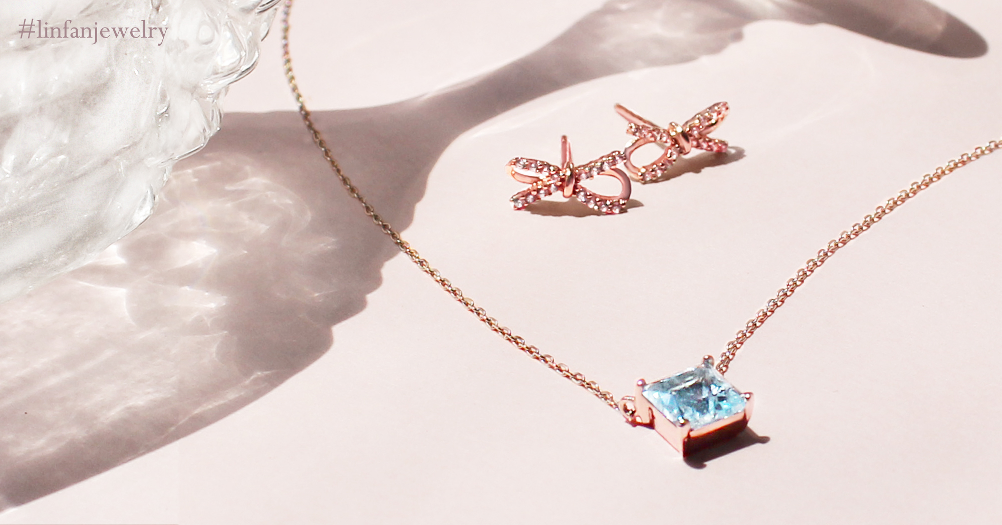 linfanjewelry梨汎輕珠寶藍冰拓帕項鍊