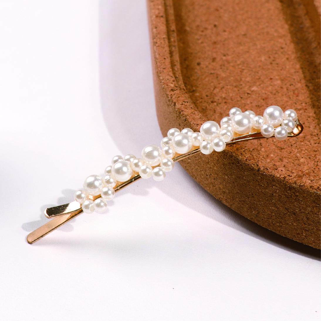 珍珠扶柳髮夾
