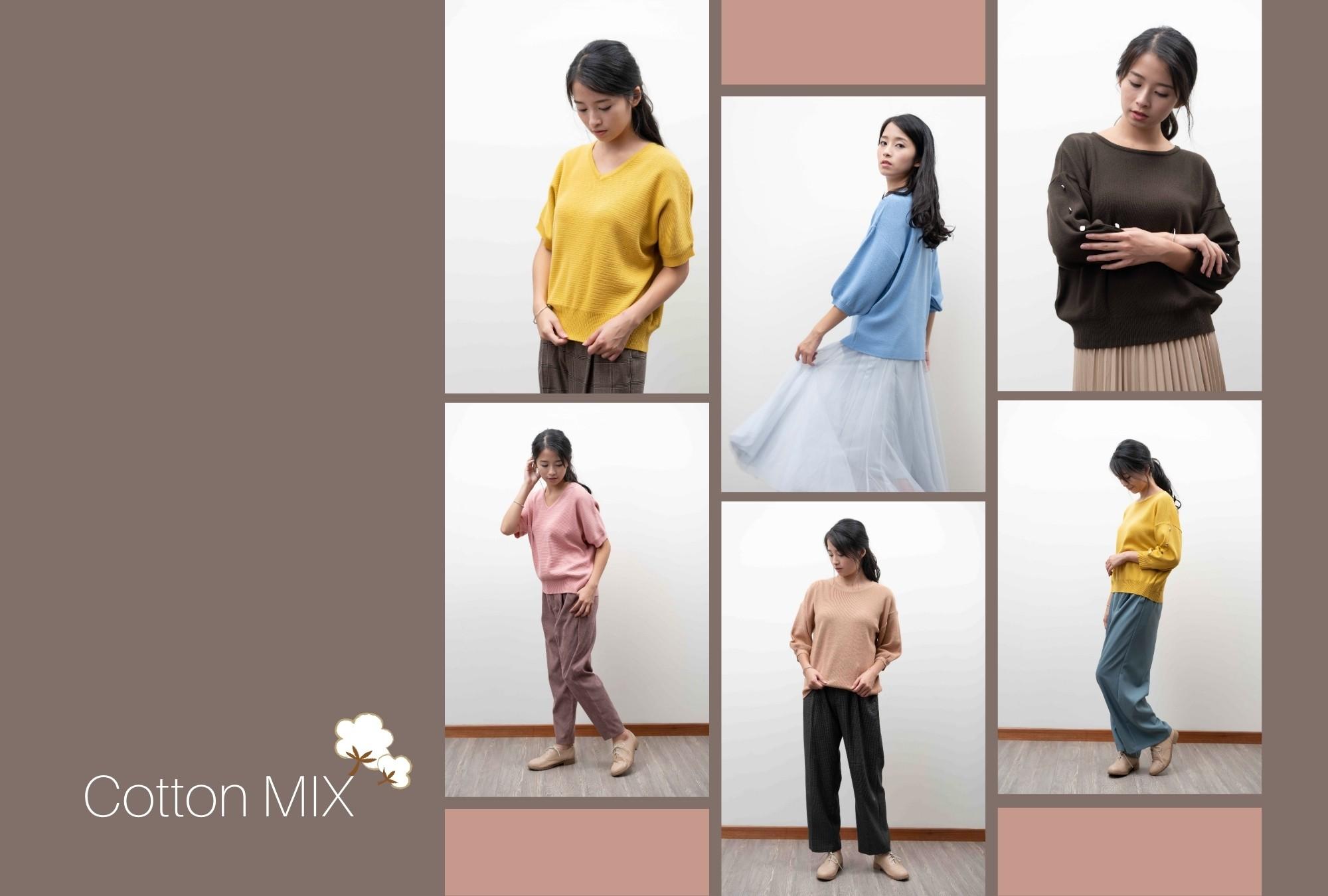 自然舒適-棉混織針織衫目錄