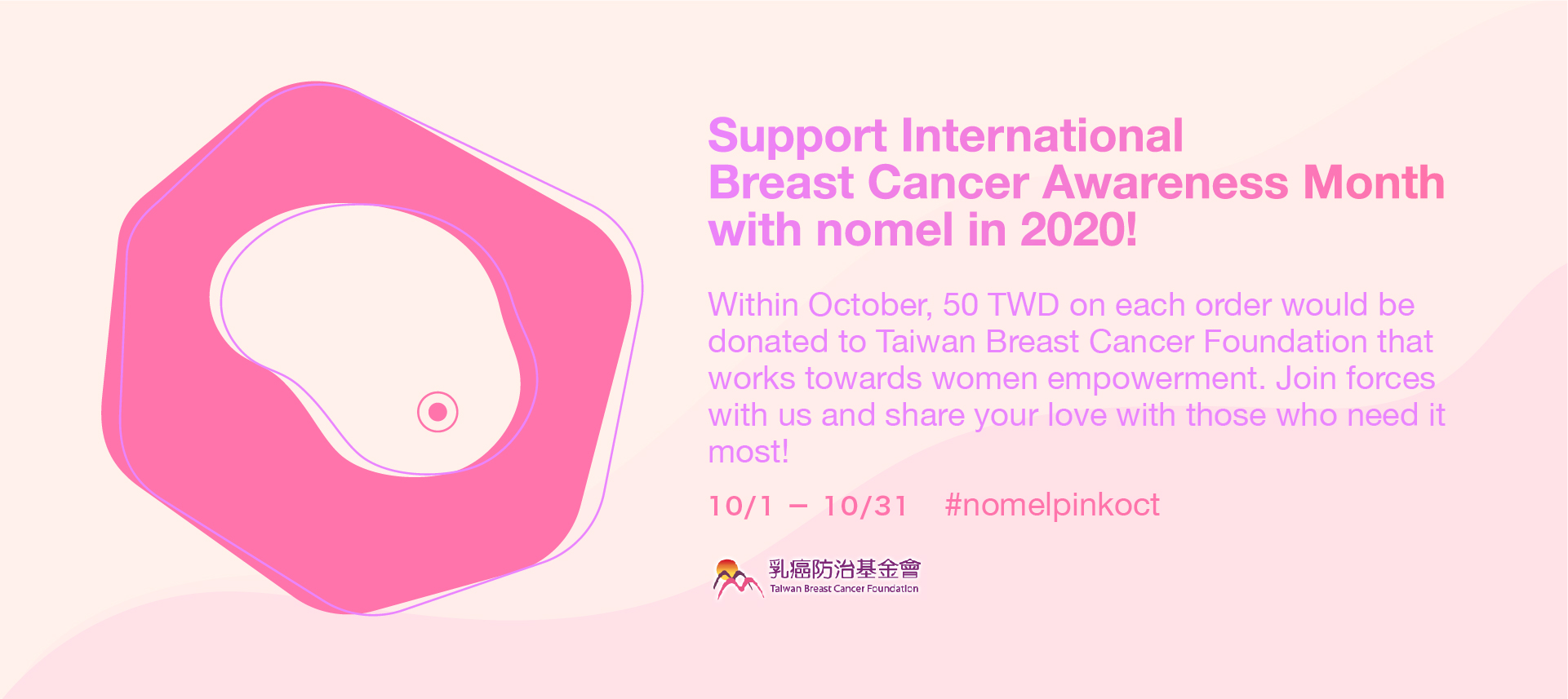 Support International Breast Cancer Awareness Month with nomel in 2020!
