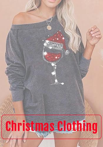 christmas wine glass sweatshirt