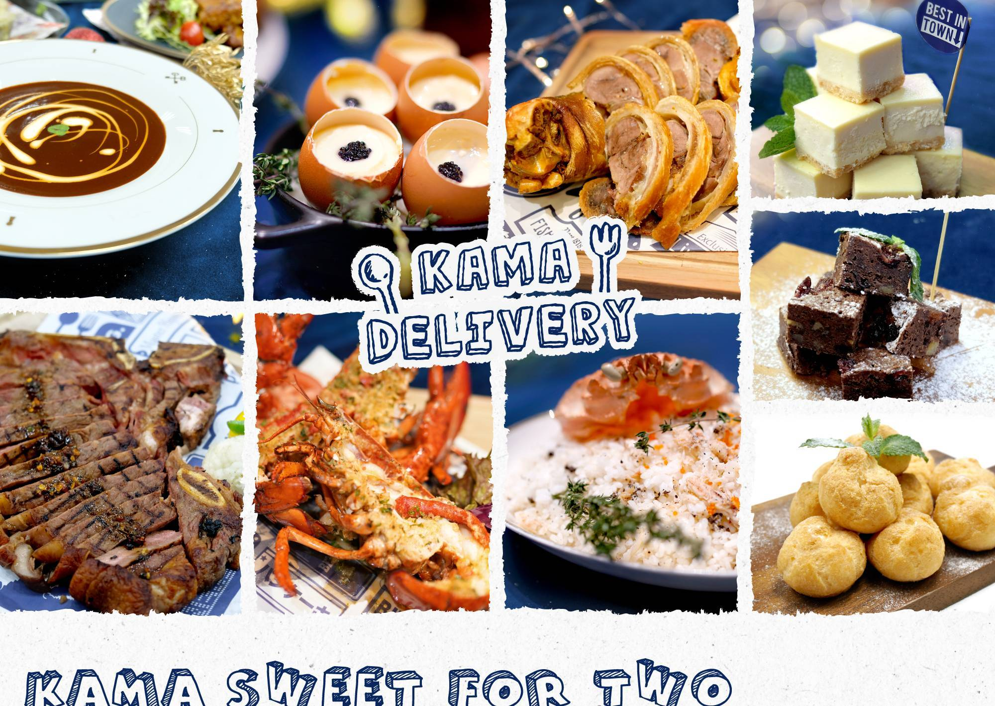 情人節去邊食|到會外賣套餐推介|Kama Delivery 推出的Sweet for Two浪漫情人節晚餐外賣配送|2月14日在家慶祝|Staycation享用