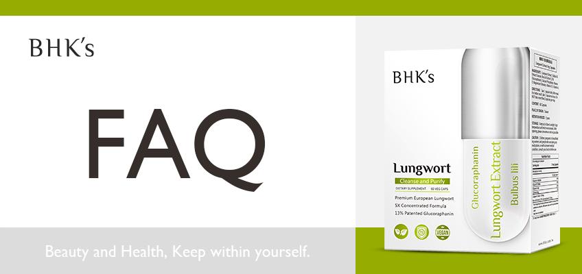 BHK's 療肺草 Q & A