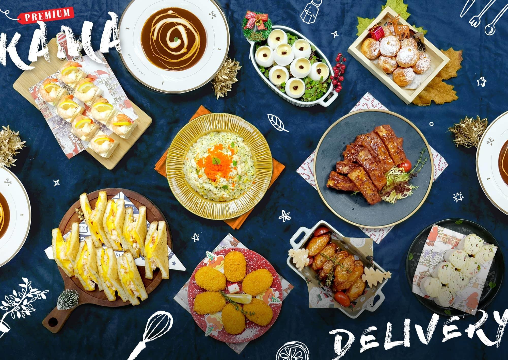 45人外賣套餐訂製|Kama Delivery大型外送到會Menu|精緻自訂人數餐盒|專享全港免運費